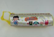 Novelty Pencil Case Zipper Tube Style Cute Cartoon Design - Yellow