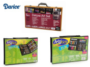 Holiday 2014 Art Set Spacials - Darice 80-Piece Deluxe Art Set with 2. Sets