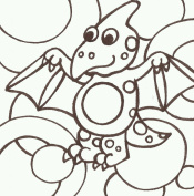 PaintaDoodle 12 x 12 Pterodactyl Painting Kit