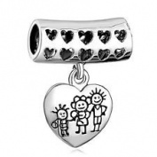 Charm Bead Family Dangle Wide Pugster Charms Fits Pandora