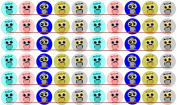 60 Precut 2.5cm CUTE OWLS with Moustache Bottle Cap Images 1