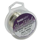 Silver Filled Wire - 26 Gauge Half Hard Round - 15ml