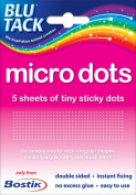 1 x Pack of Bostik Blu Tack Micro Tiny Sticki Sticky Glue Adhesive Double sided Dots. Manufacturer part number