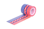 HIART Repositionable Washi Tape, Triangle Geos Red Navy A, Set of 3