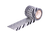 HIART Repositionable Washi Tape, Everyday Black and White Collection, Set of 3