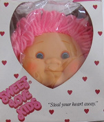 SWEET LOVE KIDS Box of 1 Vinyl HEAD 10cm - 1.3cm High & PAIR of HANDS Each 5.1cm Long w CABBAGE PATCH Style HEAD w PINK Yarn HAIR