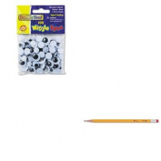 KITCKC344602UNV55400 - Value Kit - Creativity Street Wiggle Eyes Assortment (CKC344602) and Universal Economy Woodcase Pencil