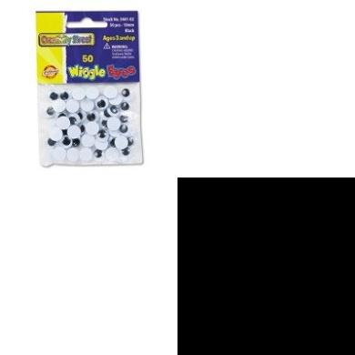 KITCKC344102CYO523024 - Value Kit - Creativity Street Round Black Wiggle Eyes (CKC344102) and. Classic Colour Pack Crayons (CYO523024)