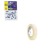 KITCKC344102UNV51301 - Value Kit - Creativity Street Round Black Wiggle Eyes (CKC344102) and Universal General Purpose Masking Tape