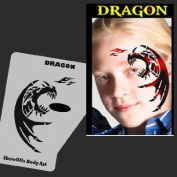 Face Painting Stencil - StencilEyes Profile Dragon
