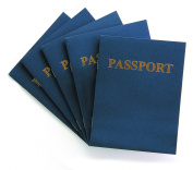 Hygloss 32650 My Passport Book, 50 Books, 11cm by 14cm , 24 Pages, Assorted Colours