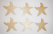 Starfish Cut Outs Unfinished Wood Mini Crafts 7.6cm Inch 6 Pieces STRF-06