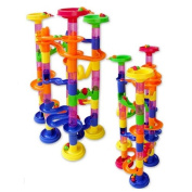 Children's 74pcs Toy Track Ball Toys Building Blocks DIY Maze a Marble-run Gift