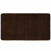 Townhouse Rugs Luxurious 50cm by 90cm Memory Foam Bath Rug, Brown