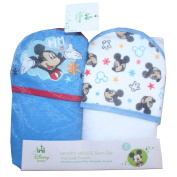 Disney Baby Mickey Mouse 2 Pack Bath Set Hooded Towels Gift Set