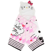 Hello Kitty Hooded Towel - Pink/White
