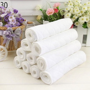 Sunny-business White Reusable Cloth Nappy Inserts Cotton 10 PCS