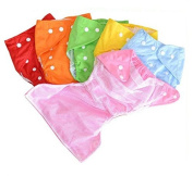 Sunny-business Thin Ventilate Reusable Adjustable Washable Baby Soft Cloth Nappy Nappy One Size 6 PCS