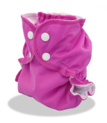 Cloth Nappy Cover - Breathable, Waterproof Cover Sewn to a Soft Microfleece Inner Layer in Bright Pink (Gem) By Applecheeks