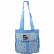 Tender Kisses Blue Train 3 Baby Bottle Cooler Insulated Tote Nappy Bag