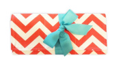Caught Ya Lookin' Changing Pad, Coral and White Chevron