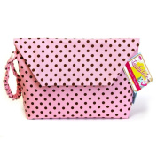 Sister Chic Tushy Tote Nappy and Wipes Case, Pink Dot