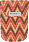 Diapees & Wipees Nappy Pouch with Wipes Case - Ikat Chevron