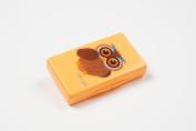 Uber Mom Tissue Box, Orange Owl