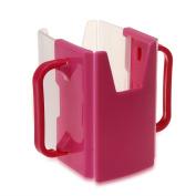 Baby Toddler Kid Adjustable Juice Milk Box Drinking Bottle Cup Holder Fuchsia