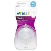 Avent Natural Teat - Medium Flow 3 Hole 3mth+