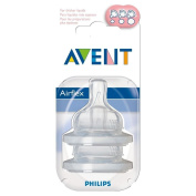 Avent Airflex Silicone Teats - Variable Flow 3mth+