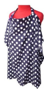 Nursing Cover, Breast Feeding Hooter : Navy Blue Polka Dot