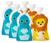 Squooshi Reusable Baby Food Pouch Freezer Storage Containers, 70ml, Set of 6