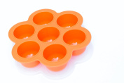 POPFEX Baby Food Multiportion Freezer Tray (orange) Made in USA