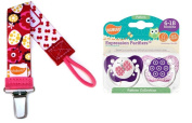 Ulubulu Pacifiers for Girls, Butterfly and Flowers, 6-18 Months