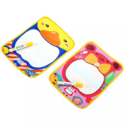 Tonsee(TM) 2PC Lovely Water Drawing Painting Writing Mat Board + Magic Pen Doodle Toy