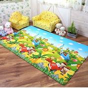 Dwinguler Eco-friendly Waterproof & Slip Resistant Reversible Kids Playmat
