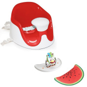 Prince Lion Heart BebePOD Chubs Plus Baby Sitter and Booster Seat, Watermelon Red