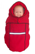 Baby Parka Carrier Coat, Red