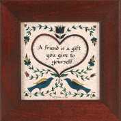 """A Friend Is a Gift You Give to Yourself"" Pennsylvania German Fraktur"