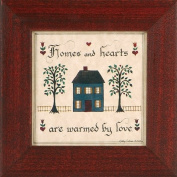 """Homes and Hearts - Warmed By Love"" Pennsylvania German Fraktur"
