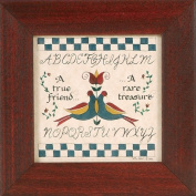 """A True Friend - A Rare Treasure"" Pennsylvania German Fraktur"