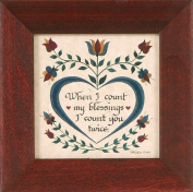"""I Count You Twice"" Pennsylvania German Fraktur"