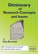A Dictionary of Research Terms and Issues