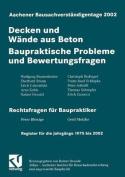 Aachener Bausachverstandigentage 2002