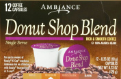 12 K-Cup Keurig Ambiance Coffee Donut Shop Blend, Medium Roast, 130ml