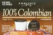 12 K-Cup Keurig Ambiance Coffee 100% Colombian Medium Dark Roast, 120ml