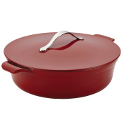 Anolon Vesta Cast Iron Cookware 4.7l Round Covered Braiser, Paprika Red