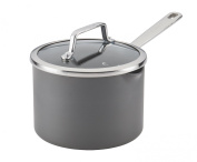 Anolon Authority 81013 Covered Straining Saucepan, 2.8l, Grey