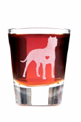 I'm a Lover Not a Fighter, Pit Bull Shot Glass